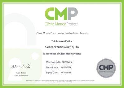 CMP MemberShip Certificate for website